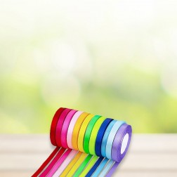 Satin-/Geschenkband 10mm (Set mit 12 Farben)