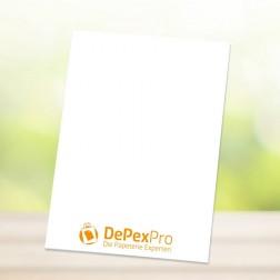 Briefpapier DIN A6, 4/0-farbig (z.B. Quittungen, Notizen usw.)