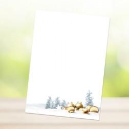 """DIN-A6 Blöckchen """"WEIHNACHTEN - GOLDENE KUGELN"""" (25 Blatt je Block)"""