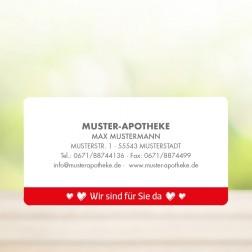 """Rollenetiketten/Schmucketiketten/Aufkleber """"Wir sind für Sie da"""" - personalisierbar -  (1.000 Stück)"""