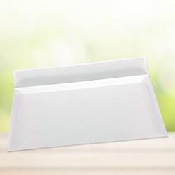 Transparente Briefumschläge, DIN lang (220 x 110 mm) mit Haftklebestreifen